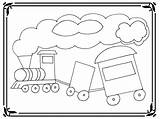 Coloring Pages Train Preschoolers Crash Template Realistic sketch template