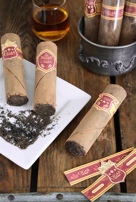 Smoky Chocolate Cigars - Sprinkle Bakes