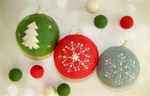 Weihnachtsdekoration Selber Basteln : weihnachtsbasteleien 30 diy weihnachtsdeko ideen aus filz ~ Articles-book.com Haus und Dekorationen