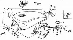 Honda Motorcycle 1985 Oem Parts Diagram For Fuel Tank