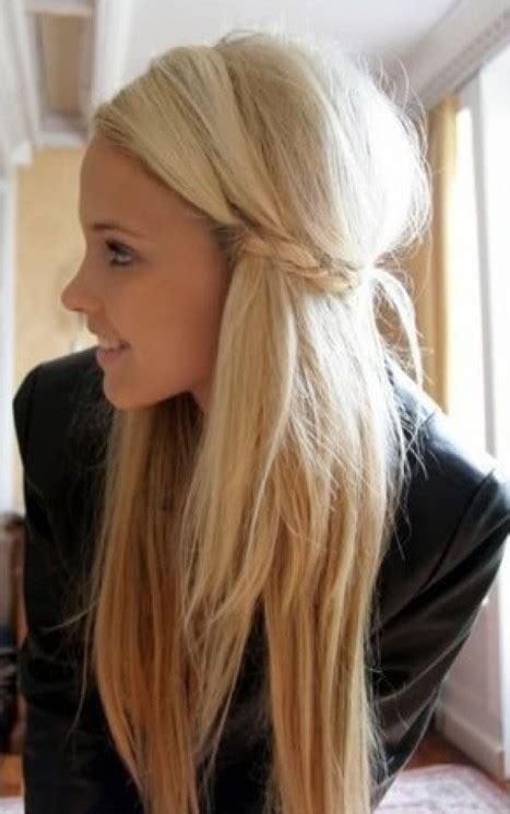 cute easy hairstyles  long hair pretty designs