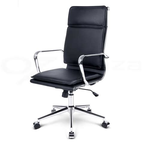 executive office chair computer pu faux leather recliner
