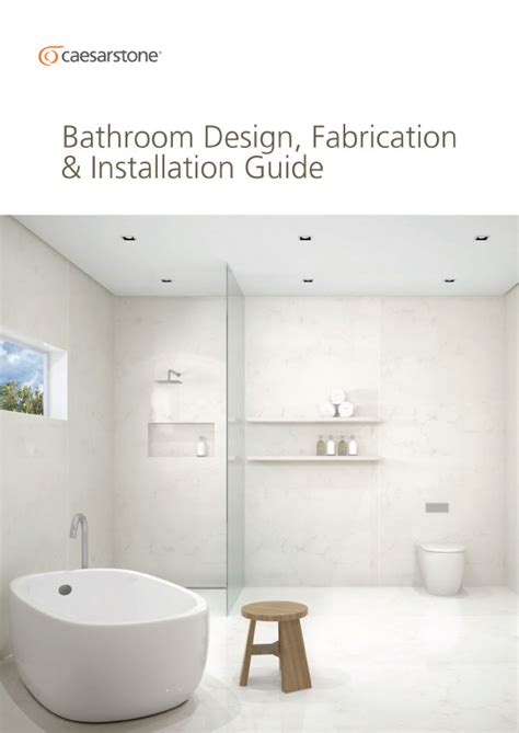bathroom design guide caesarstone technical information and data