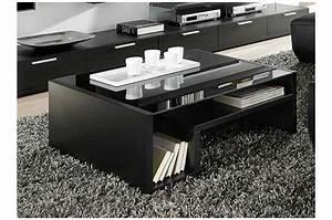 Table Basse Bois Et Noir : table basse bois et verre noir ~ Teatrodelosmanantiales.com Idées de Décoration