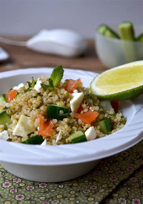 cuisiner cru 70 recettes food lunchbox taboulé de quinoa au saumon fumé tendance food