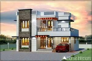 1500, Square, Feet, Double, Floor, Modern, 4, Bhk, Home, Design