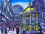 Ireland North - Victoria Square Belfast Painting by Harv ...