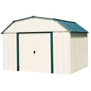 arrow sheridan 10 ft x 14 ft vinyl storage building