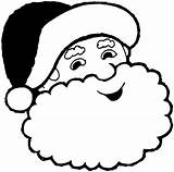 Santa Hat Template Printable Christmas Coloring Pages Beard Clipart Printables Curly Blank Claus sketch template