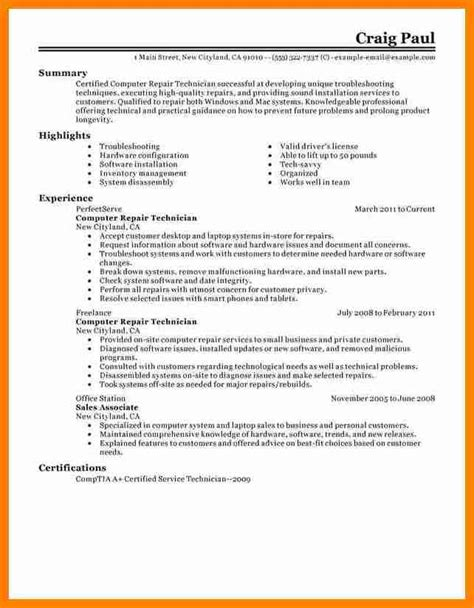 Tech Resume by 9 Electronics Technician Cv Sle Penn Working Papers