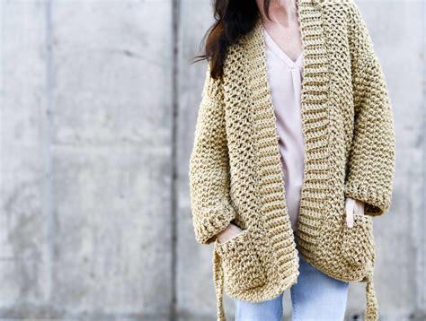 Sweater Coat Cardigan Crochet Pattern & More