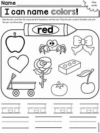 Worksheets Preschool Kindergarten Activities Colors Printable Weeks