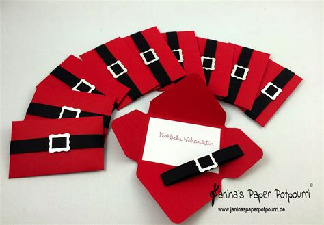 gutschein weihnachtlich verpacken verpackung f 252 r geschenkkarten mit anleitung santa gift card holder geldgeschenk verpackung