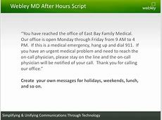 Voicemail greetings script cekresi jne 2018 providing better after hours care to your patients m4hsunfo