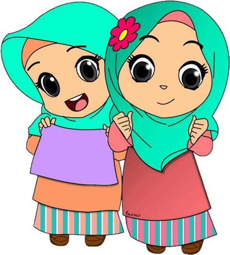 Kartun perempuan menggambar animaatio, muslimah, anak, orang lain, kartun png. #kids #hijab #jilbab #muslimwomensday - Kartun Kanak Kanak ...