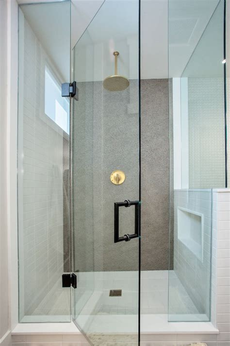 gold shower head contemporary bathroom madison