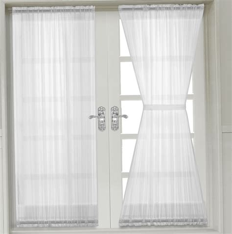 french door sheer curtain panels home design ideas