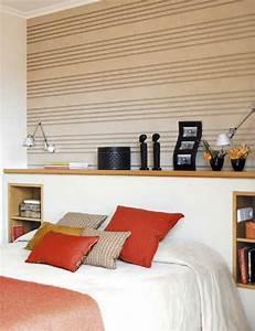 Wandgestaltung Hinter Bett: Ideen attraktive wandgestaltung hinter ...