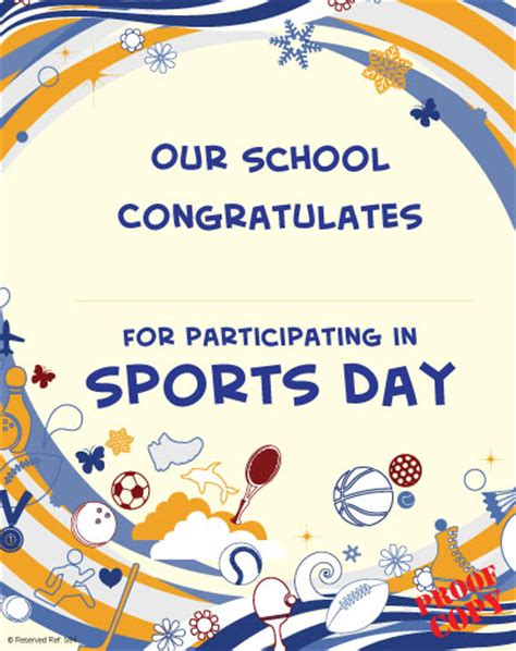 sports day certificate templates free sports certificate s97 pixygraphics