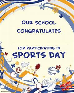 sports certificate s97 pixygraphics With sports day certificate templates free