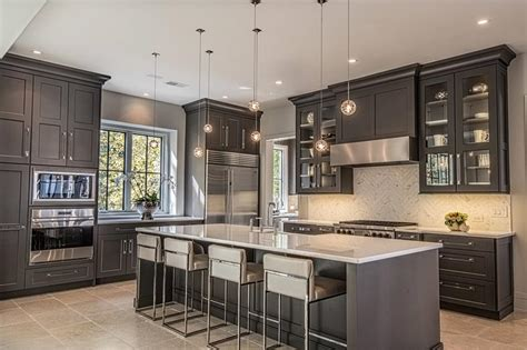 kitchens  dark  black cabinets home awakening