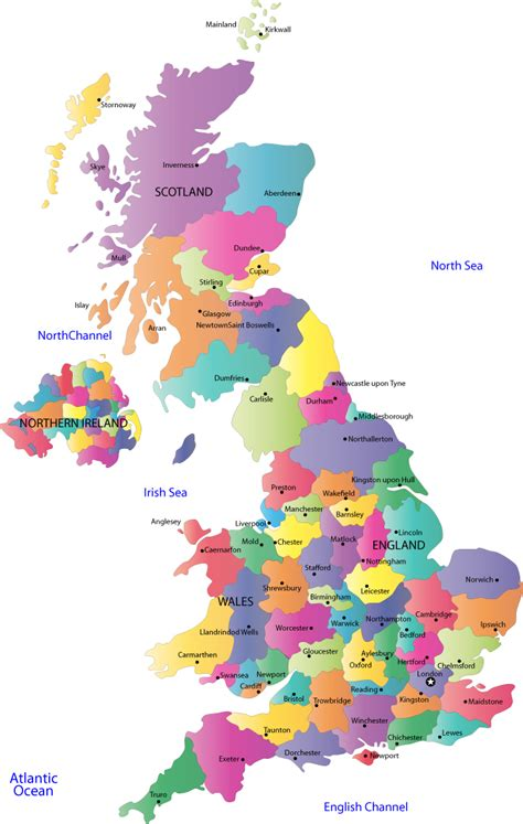 united kingdom county map england counties  county towns