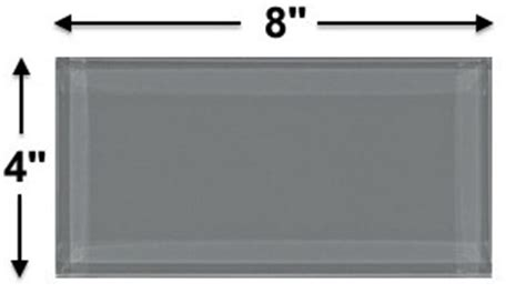 ocean gray glass 4x8 inch subway tile 8mm