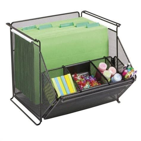 stackable bin storage cabinets safco onyx stackable mesh storage bins in black 467907