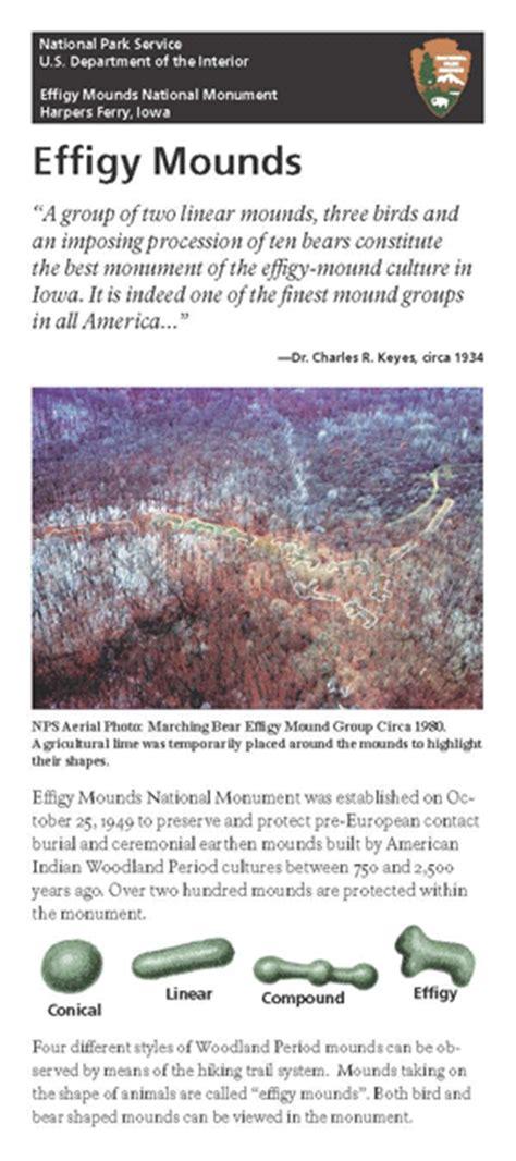 brochures effigy mounds national monument  national