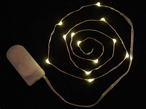 led wire lights wire light led strand 12 warm white leds coin cell