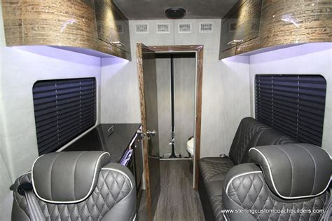 Shower tray campervan conversion motorhome fiat peugeot citroen mercedes crafter | ebay. Luxury Custom 4X4 6 Passengers With Bathroom And Galley-Miller Time in 2020 | Luxury, Stealth ...