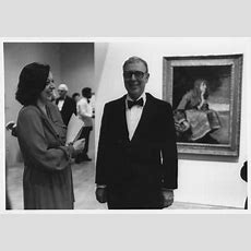 Mr And Mrs James Stewart At The Opening Of The Armand Hammer Exhibit In The Art Museum In The