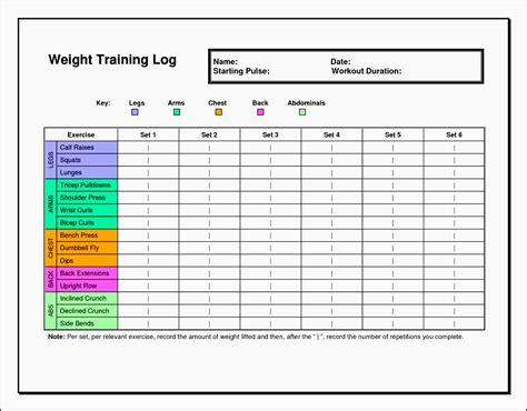 exercise planner template  excel sampletemplatess