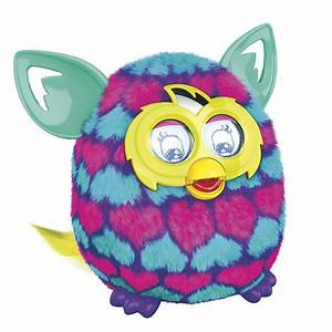 Amazon.com: Furby Pink and Blue Hearts Boom Plush Toy ...