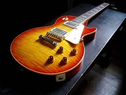Gibson Paul Guitar Wallpapers Desktop Guitarras Sunburst