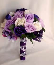 bridesmaids bouquets silk purple bridal bouquets package custom for helen
