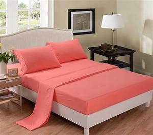 Coral colored comforter and bedding sets for Bedroom sheets sets