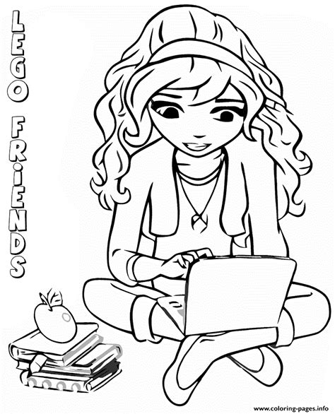 Olivia Friends Lego Free Colouring Pages