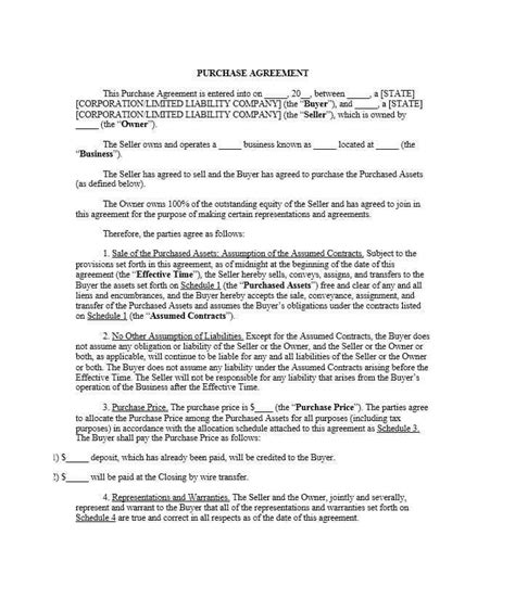 exclusive equity purchase agreement template gi