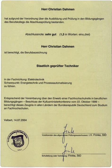 Gepruefter Lichtexperte Elektrotechnik by Techniker Zeugnis Dahmen Modellbau