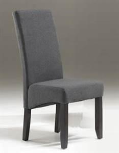Chaise Gris Anthracite : chaise de salle a manger en tissu ~ Teatrodelosmanantiales.com Idées de Décoration