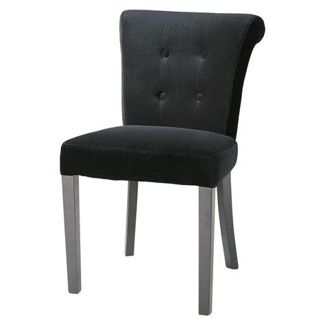 chaise capitonnee chaise capitonnée en velours noir boudoir maisons du monde