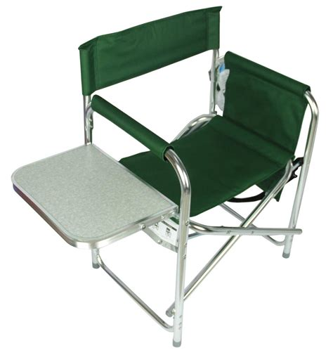 chair with side table folding sports directors chair cing fishing chair with