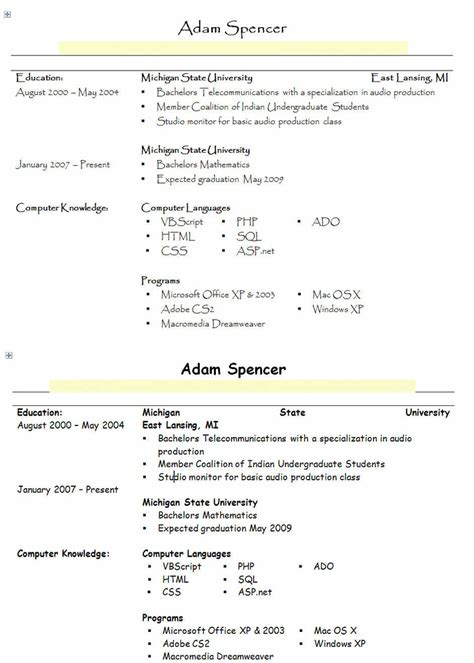 Best Font Resume by Best Resume Fonts Best Resume Fonts
