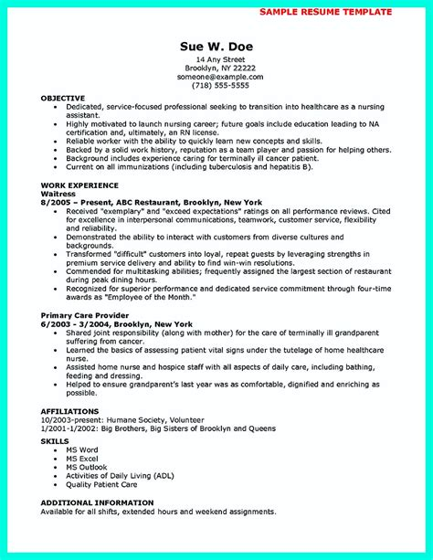 mention great  convincing skills  cna resume sample
