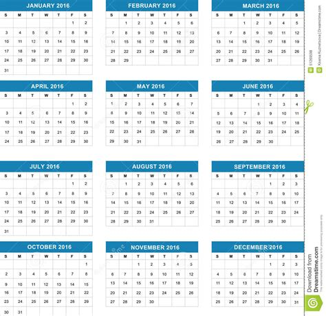 simple calendar vector illustration stock vector image