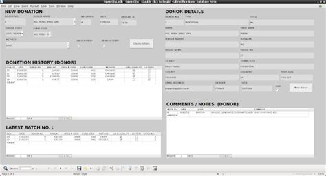 libreoffice databases base templates