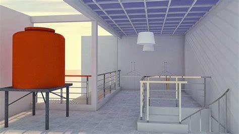 desain ruang tempat jemuran rumah minimalis  lantai