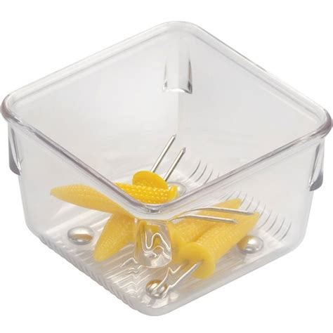 Narrow Clear Plastic Drawer Organizer   Square in Drawer Bins