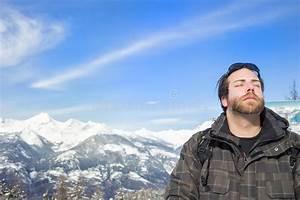 Man Enjoying The Sunshine And Tranquility Stock Image ...